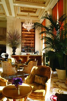 I go to the Champagne Bar at the Plaza when I'm looking for a beautiful Gatsby-esk atmosphere! It's classic in the most charming sense. There's never a bad day for champagne!