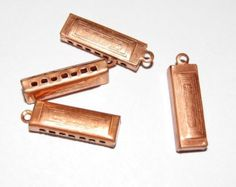 Vintage Copper Harmonica Charms by yummytreasures on Etsy Charms, Copper, Buy And Sell, Trending Outfits, Wallet, Unique Jewelry, Creative, Cute, Handmade