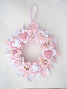 pink cupcake heart wreath by dreamstar1904, via Flickr