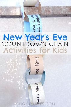 New Years Eve Countdown Activity chain for kids. New Years Eve Countdown Activity chain for kids. New Years With Kids, Kids New Years Eve, New Years Eve Games, New Years Party, Countdown For Kids, New Year's Eve Countdown, Countdown Ideas, New Year's Eve Activities, Holiday Activities
