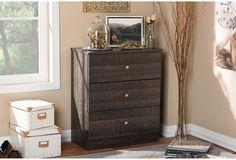Drawer Storage Chest Modern Contemporary Espresso Brown Wood Home Furniture  #BaxtonStudio #Contemporary #Drawer #Storage #Chest #Modern