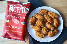 These Sriracha crunch wings are sweet, spicy and have enough kick to score a field goal. I decided to use my fave Kettle Brand chips to give this wing recipe someextra crunch and flavor. Make them for the Super Bowl or just to hang and watch Netflix...nobody's judging you. Happy eating! Ingredients   1/3 cup Sriracha  3
