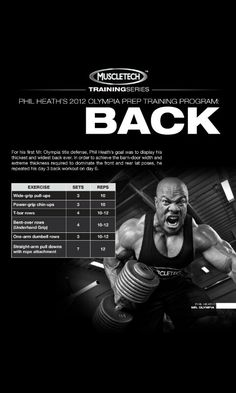 Phil Heath 2012 Olympia prep Traning (Back) Day #6 https://www.theironden.com