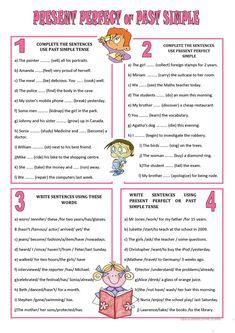 present perfect tense printable worksheet ile ilgili görsel sonucu Tenses Exercises, Grammar Exercises, English Exercises, Free Education, Education English, Teaching English, Grammar And Vocabulary, Grammar Worksheets, English Lessons
