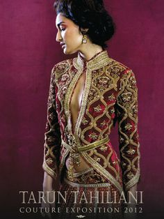 Tarun Tahiliani. I ♥ this jacket...
