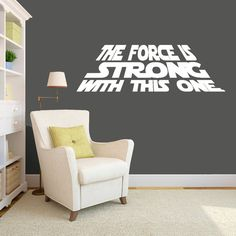 A great decal for any Star Wars fan! Goes great with Pottery Barns Star Wars Collection. This decal measures and comes in the Black or White, and Boys Bedroom Decor, Nursery Decor, Bedroom Ideas, Boys Black And White Bedroom, Boy Room, Kids Room, Star Wars Invitations, Star Wars Bedroom, Star Nursery