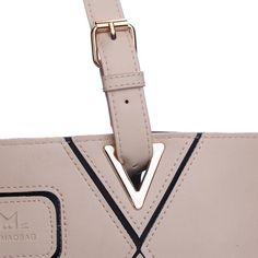 Bolsa de couro Fashion di spalla bege