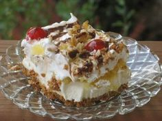Banana Split Dessert: This is a favorite dessert of my husband.  Rich, but oh so yummy...