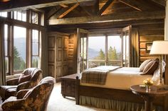 Great Point Lodge ~ logs, beams, views & soothing decor