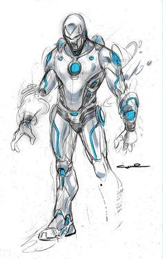 Superior Iron Man (Tony Stark) (Iron Man Armor Model 50)   art by Yıldıray Çınar
