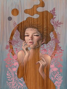 Spring Nocturne - Audrey KawasakiYou can find Audrey kawasaki and more on our website. Audrey Kawasaki, Surrealism Painting, Pop Surrealism, 21st Century Artists, Lowbrow Art, Nocturne, Magazine Art, Art Fair, American Artists