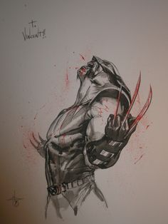 Dell'Otto Gabriele Sketch 02 Wolverine Comic Art
