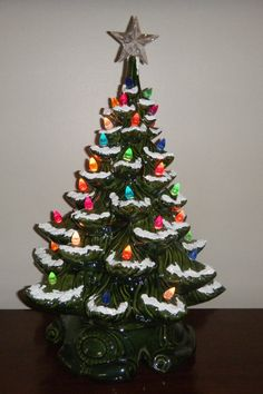 vintage light up ceramic christmas tree grandma lorraine put one of these in caseys nursery and