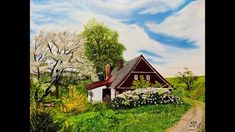 An oil painting depicting Spring on 12 x 16 Ampersand panel. Winsor Newton Artist Oil paints and Michael James Smith Professional Set of brushes by Rosemary . Michael James Smith, Spring Landscape, Painting Videos, Palette Knife, Artist, Artists