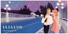 Tribute to Lala Land by Leila Charafeddine  I loved the cinematography, the colors, the storyboard, the music.. A movie that is beautifully directed!  #illustration #lalaland #movie #digitalart #emmastone #ryangosling #lalalandmovie #cityofstars #fanart #walking #boyandgirl #love #friendship #colorful #couple #sketch #drawing