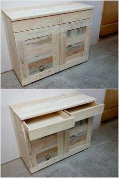 Wood Pallet Cabinet #rodete