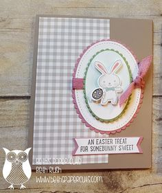 Hi Everyone! Today I wanted to share this cute little Easter Card. I wanted to make a card with the look of one of those Hollowed out eg...