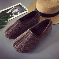 Soft Curly Plush Slip On Warm Loafers – Mollyca Fall Outfits, Fashion Outfits, Womens Fashion, Fashion Tips, Snow Boots Women, Luxury Dress, Winter Shoes, Shoe Size Chart, Clothes For Women