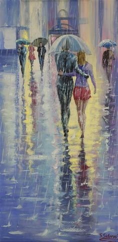 Love this oil painting from Ugallery. Under One Umbrella by Stanislav Sidorov.