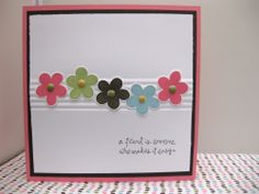 Stampin Up Demonstrator UK: Simply Said..lines in middle with crimper, great idea