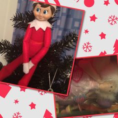 2015 - Day 21: Last year Loki kidnapped our fairy and put himself on top of our tree - and he's up to his old tricks again. This year our poor fairy was shoved in the play kitchen box. Bad Loki! #OurElfOnTheShelf #Christmas #NaughtyElf
