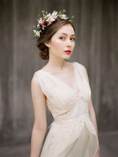 Zlata // Flowy airy wedding dress Chiffon by Milamirabridal