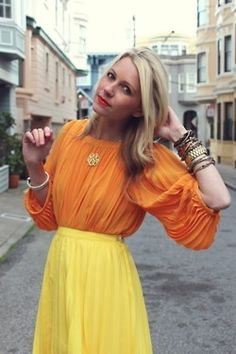 Orange & yellow #style