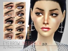 Sims 4 CC's - The Best: Eyebrows by Pralinesims