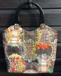 Updates to Upcycled Silk Ribbon Embroidered Wool Bag - Foolproof Crazy Patchwork Projects - Sew, What's New?
