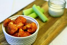Eat Your Veggies: Buffalo Cauliflower made with panko bread crumbs!