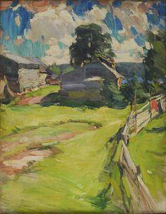 Русский художник Архипов (Пыриков) Абрам Ефимович (1862 - 1930).  После дождя. 1910.