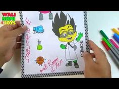 Romeo PJ Masks Drawing coloring for kids Romeo Pj Masks, Mask Drawing, Play Doh, Drawing For Kids, Coloring For Kids, Kids Toys, Eggs, Make It Yourself, Drawings