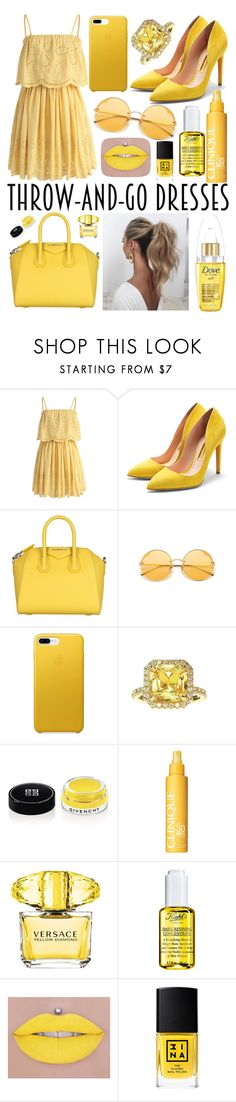 """""""Rays🌞"""" by lilyalicewalker ❤ liked on Polyvore featuring Chicwish, Rupert Sanderson, Givenchy, Love Couture, Clinique, Versace, Kiehl's, 3ina and Therapy"""