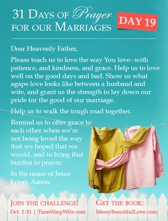 To Love With Agape Love (Marriage Challenge – 31 Days of Prayer) - Time-Warp Wife | Time-Warp Wife
