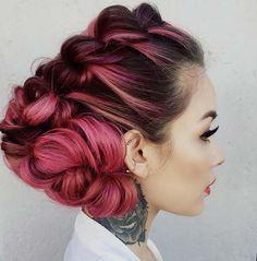 100 Trendy Long Hairstyles for Women: Angular Braided Updo