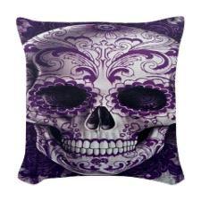 Gothic Skull Woven Throw Pillow