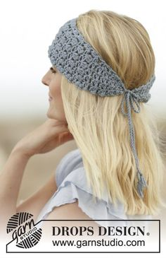 "Crochet DROPS head band in ""Big Merino"". ~ DROPS Design"