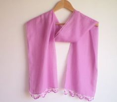 100 cotton very soft scarf soft scarf pink scarf by BloomedFlower, $20.00