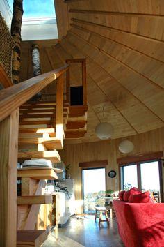 Virginie Farges - architecture écologique corrèze limousin brive limoges maison bois: maison ronde