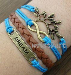 Infinity bracelet  dream braceletleaf braceletantique by wrist9art, $5.99
