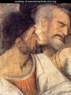 Heads of Judas and Peter - Leonardo Da Vinci - www.leonardoda-vinci.org