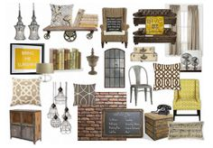 Check out this moodboard created on @Cheryl Brogan: Industrial Vintage by restylist