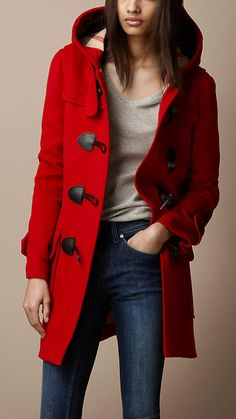 Wool Duffle Coat | Burberry  Oh Burberry, why are you the only designer who seems to know how a toggle coat is supposed to look. Sigh.