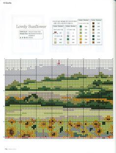 Lovely Sunflower 4 of 7 Cross Stitch Needles, Cross Stitch Charts, Cross Stitch Embroidery, Cross Stitch Patterns, Blackwork Patterns, Embroidery Patterns, Cross Stitch Geometric, Cross Stitch Landscape, Types Of Craft