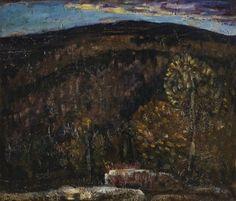 """Late Autumn,"" Marsden Hartley, 1908, oil on academy board, 18 1/4 x 20 1/4"", Weisman Art Museum."