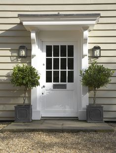 90 Awesome Front Door Farmhouse Entrance Decor Ideas - Page 32 of 95 - Abidah Decor Front Door Overhang, Front Door Porch, House Front, Front Door Canopy, Front Entry, Front Door Plants, Awning Over Door, Window Canopy, Side Porch