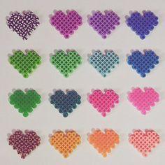 Hearts perler beads by perler_artwork