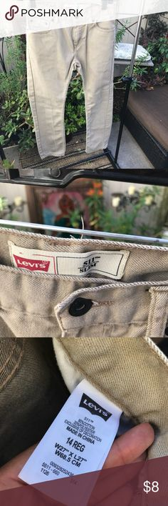 Boys Levi's pants Kind of a khaki color. they go with everything Levi's Bottoms Jeans