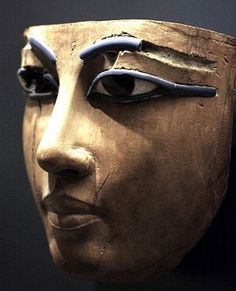 Death Mask from ancient Egypt - circa 18th Dynasty period - at the Louvre Museum