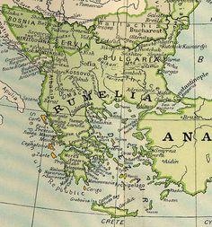 Βενετικός χάρτης Ελλάδας.